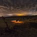 A single frame from tonight's cloudy campsite campfire cactus time lapse by slworking2