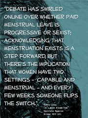 Quotation: Is menstrual leave progressive or sexist?