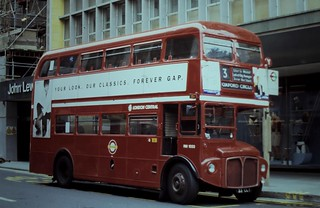91-168  RMs in Oxford Street on 'the Three' - two of two;  RM1033 (33 CUV)