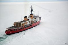 USCGC Polar Star icebreaking operations off of Antarctica