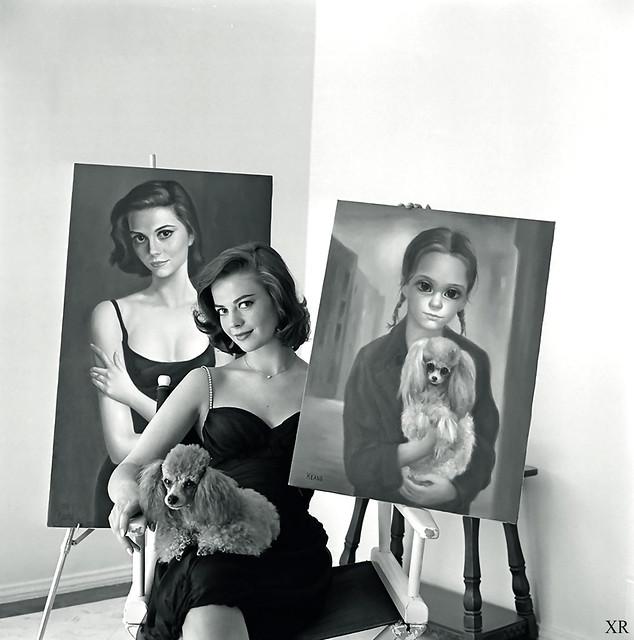 1964 ... Natalie Wood with Kean paintings