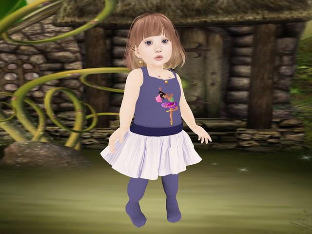 Toos Cute Toosday - Tiny Tiaras Bowtique- Paisly Dress & Tights