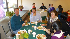 A bountiful meal was part of the Naw-Rúz celebration in Madison, Wisconsin. Photo courtesy of Sid Korn
