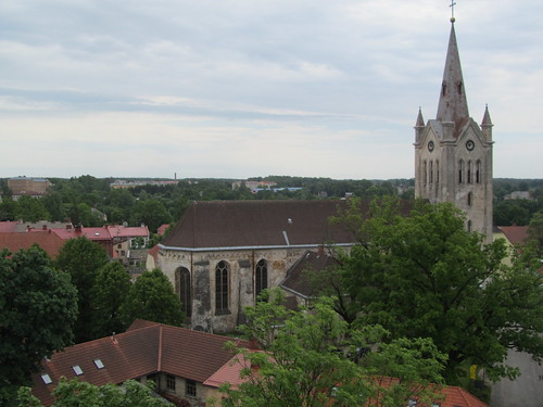 church skyline latvia cesis balticstate newcesiscastle