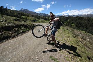 Bike ride in the Countryside of Huraz.  Peru.