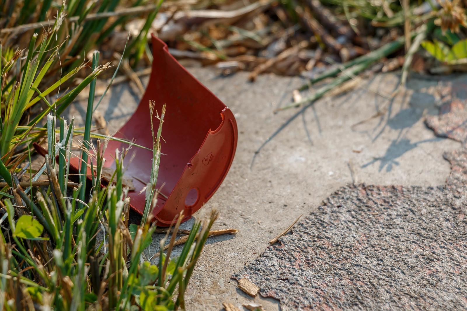 broken pot on weatherbeaten path