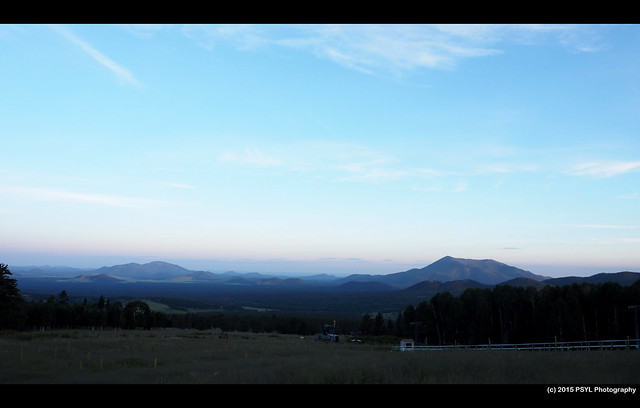 View of Flagstaff in early morning
