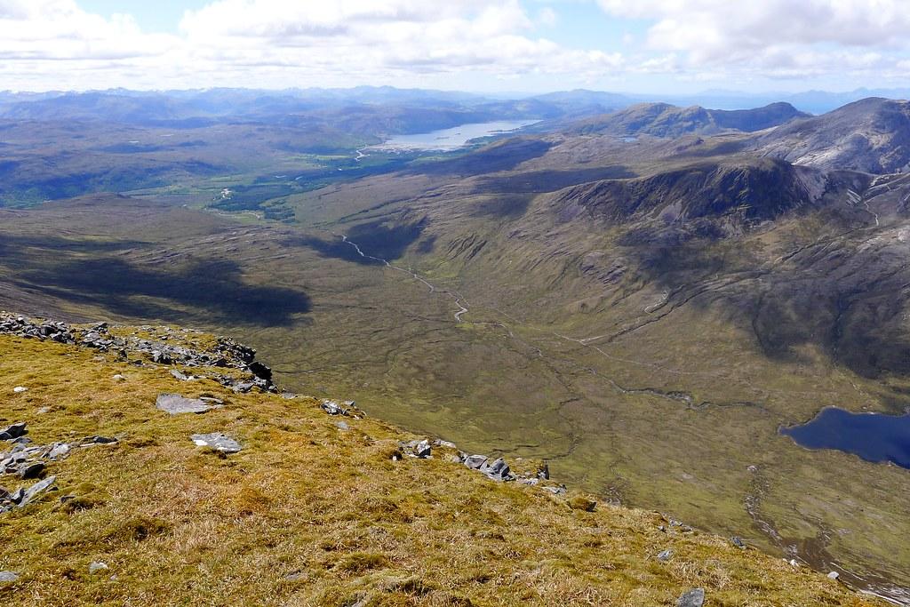 Coire Fionnaraich and Loch Carron