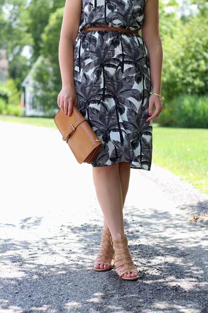 Black and White Palm Tree Dress