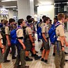 30 seconds to leave train! Yamaguchi station. #wsj2015 #troop204wsj