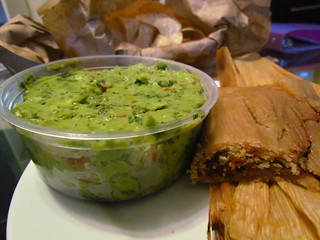 BBQ Seitan Tamale and Guac from Vegetarian Express