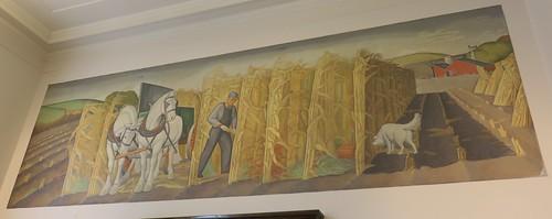 mural iowa ia dewitt postoffices newdeal clintoncounty cityhalls johnvbloom