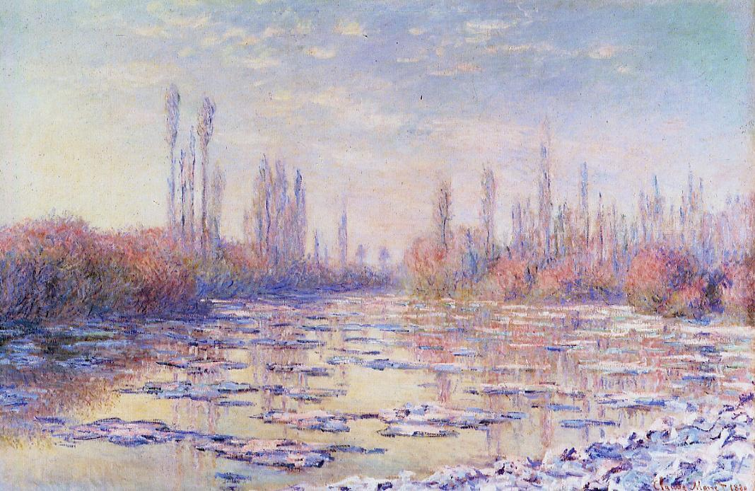 Floating Ice by Claude Oscar Monet - 1880