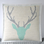 DIY cross stitch cushion