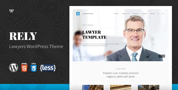 Rely v1.0 - Lawyers WordPress Theme