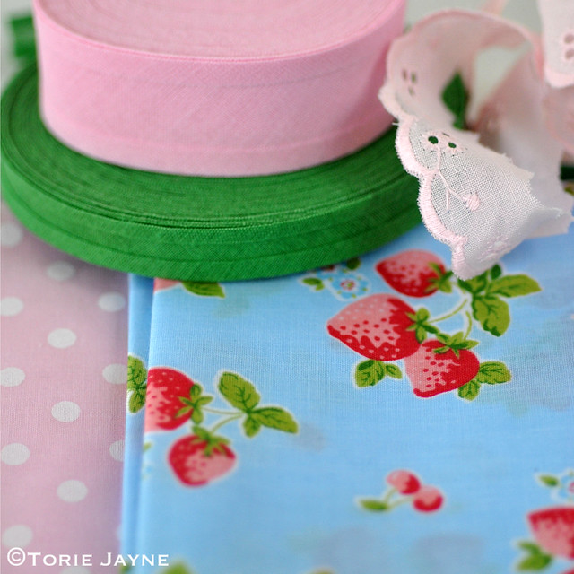 Strawberry print fabric at Sooz