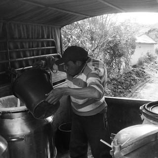Milk Truck ride back down.  Quilotoa Loop, Ecuador.