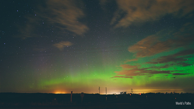 northern lights Carstairs (Alberta)