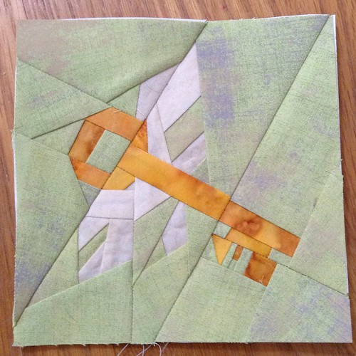 Flying key block, for my POD quilt.