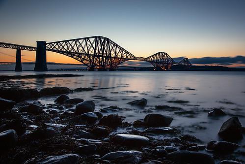longexposure bridge sunset water canon scotland waterfront fife bluesky nd bluehour forthbridge riverforth waterscape 24105 fifecoastalpath fifecoast grantmorris grantmorrisphotography