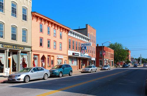mountgilead morrowcounty ohio village downtown