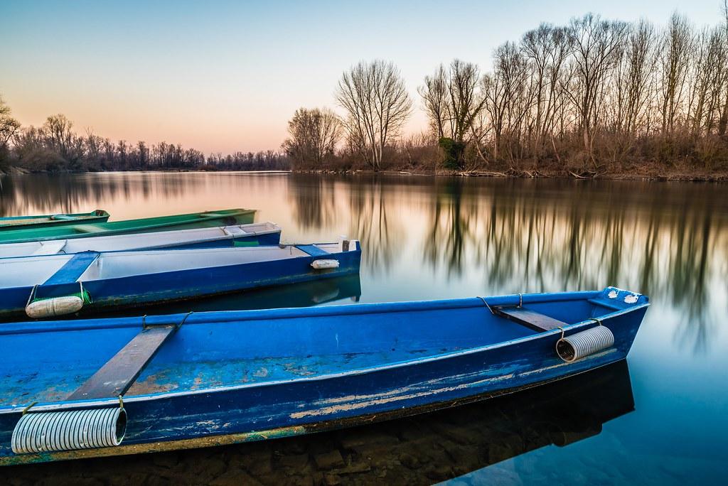 Boats on Adda River, 2017