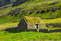 Small turf house in Í Trøðum at Sandur in Sandoy, Froe Islands