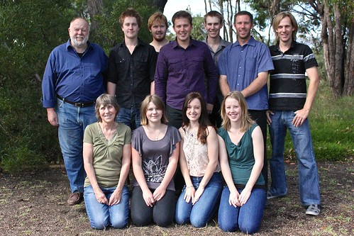 2011 flashback: Jill and Paul Weaver with our nine generous offspring