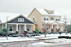 Hometown NRH Houses in Snowstorm, March 2008