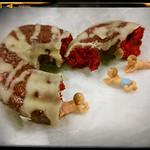 Red velvet donuts from Buckeye Donuts