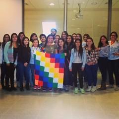 Realizando jornadas andinas :blush::blush: en la fotografía junto a estudiantes de INACAP La Serena.