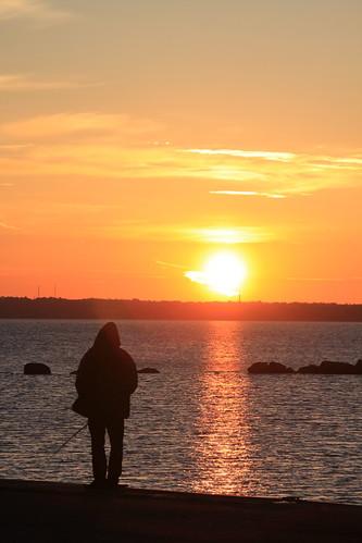 ocean morning sea sunrise tallinn baltic sonnenaufgang ostsee morgen
