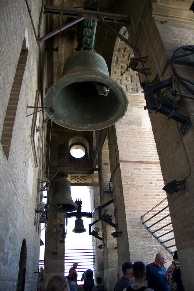 Church bells at top of Cathedral in Seville