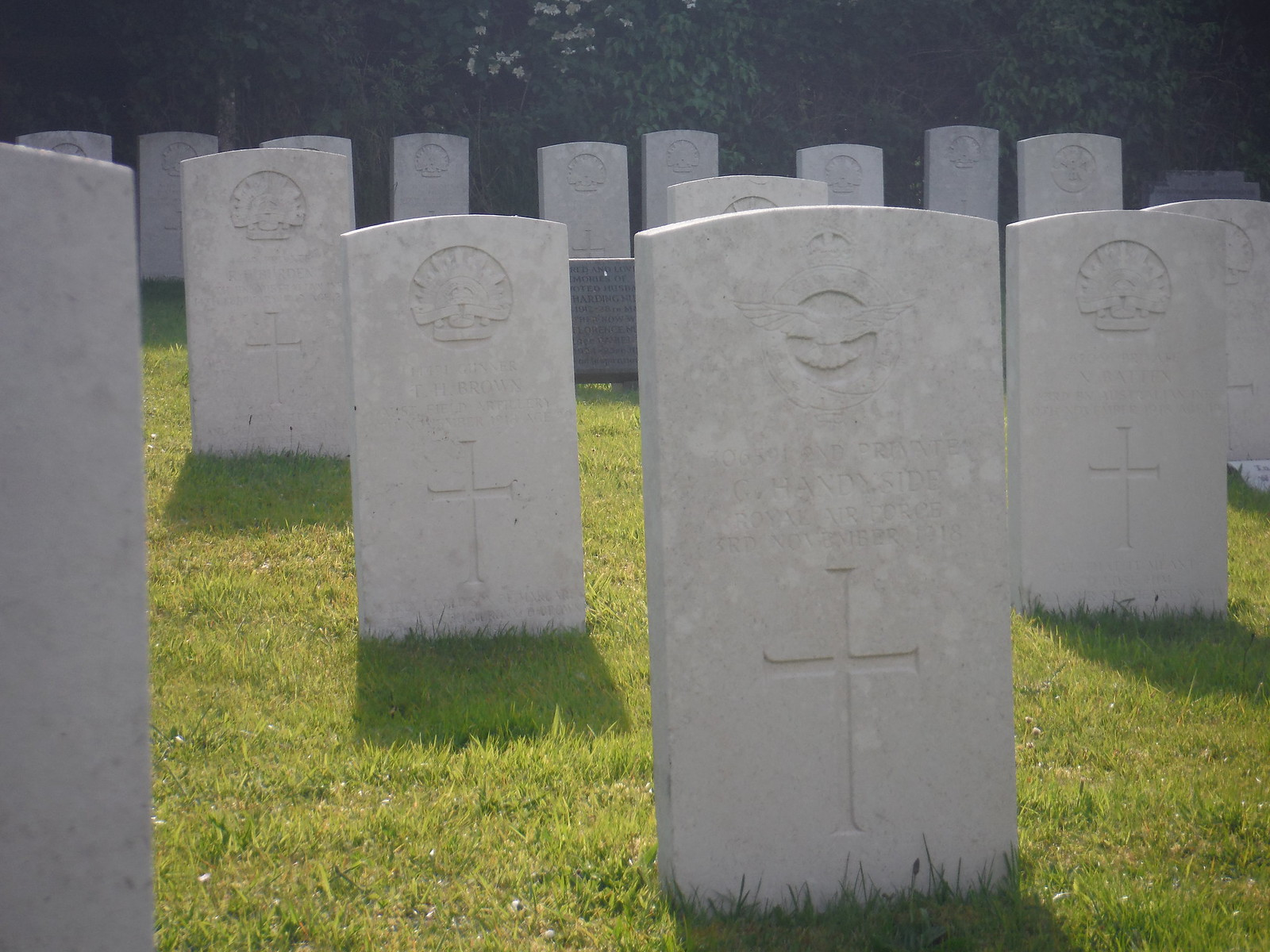 WWI graves at Fovant Church SWC Walk 249 Tisbury Circular via Dinton and Fovant