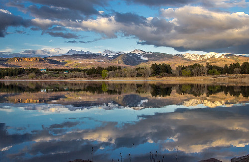 lake mountains reflection outdoors colorado snowcapped durango mancos