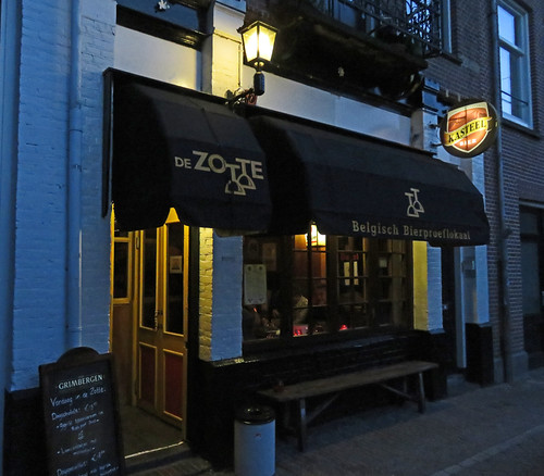 Exterior of the pub De Zotte in Amsterdam, Holland