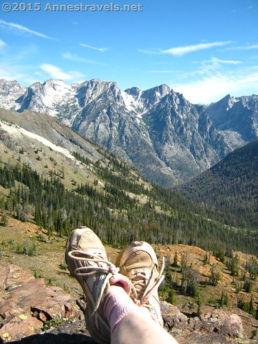 Most of my hiking companions prefer wearing sneakers. Atop Bean Peak, Okanogan-Wenatchee National Forest, Washington