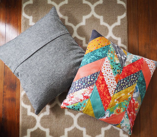 Quilted Flora Herringbone Pillows