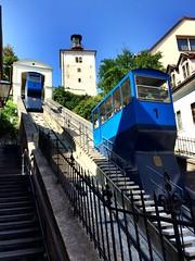 Zagreb, Croatie. Le funiculaire