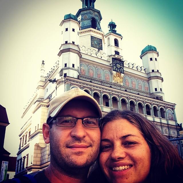 By the ratusz in Poznan
