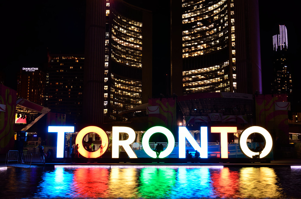 3D TORONTO sign in Nathan Phillips Square
