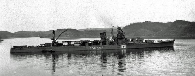 Japanese_cruiser_Sakawa_postwar