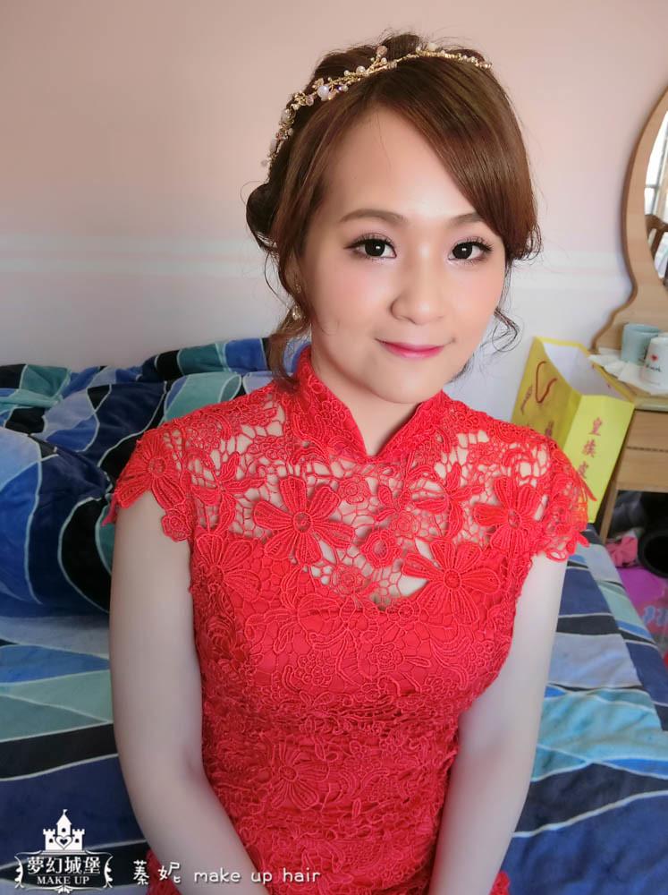 【新秘蓁妮】bride越亞 訂婚造型 / 中壢新陶芳餐廳
