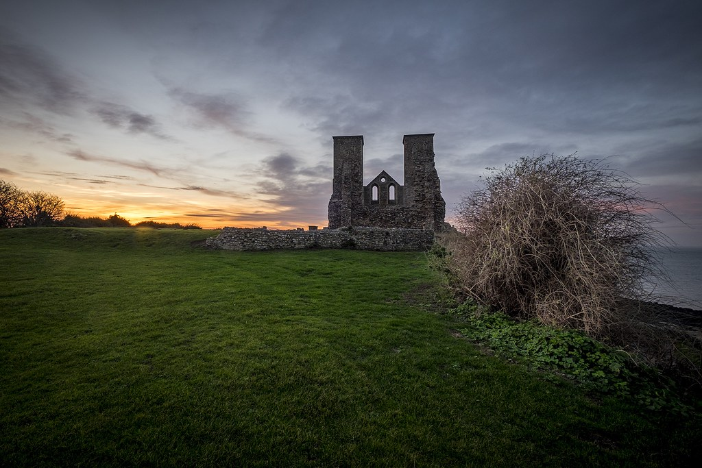 Reculver Towers at Sundown