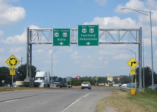 us34 us63 roundabout bgs clearview ottumwa wapellocounty