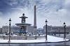 Place de la concorde - Paris sous la Neige