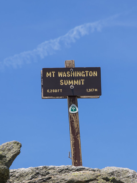 Sign at the summit of Mt. Washington