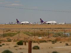 mothballed 747s outside of Mojave