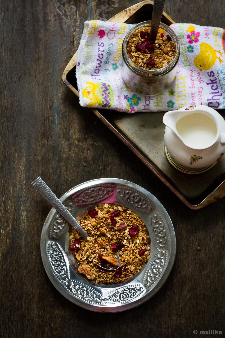 Pecan, Cranberry, Coconut Granola_1