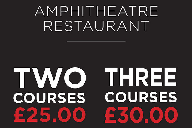 Two Courses for £25, Three for £30, Amphitheatre Restaurant offer © ROH.2015